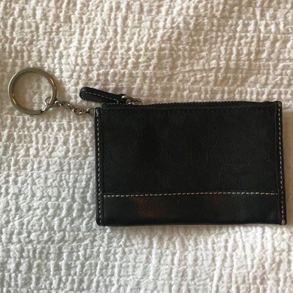 Vintage Black Coach KeyFob Credit Card Holder
